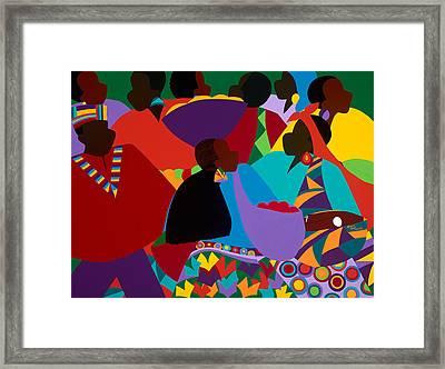 Masekelas Marketplace Congo Framed Print
