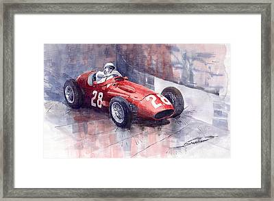 Maserati 250 F Gp Monaco 1956 Stirling Moss Framed Print