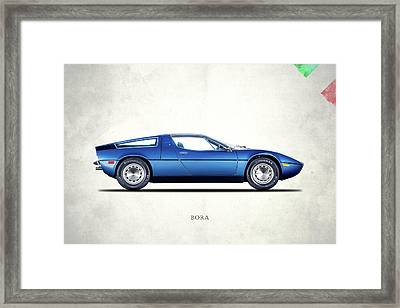 Maserati Bora 1973 Framed Print by Mark Rogan