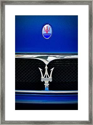 Maserati Hood - Grille Emblems Framed Print