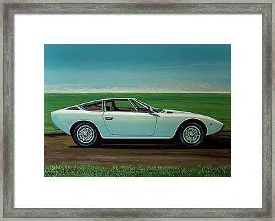 Maserati Khamsin 1974 Painting Framed Print by Paul Meijering