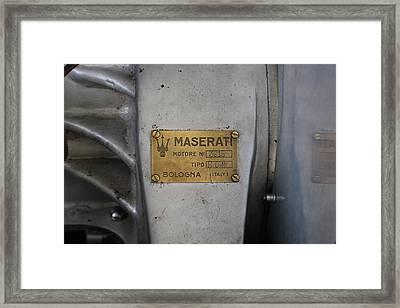 Maserati Motore 3015 Framed Print by Robert Phelan