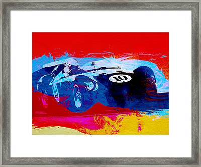 Maserati On The Race Track 1 Framed Print by Naxart Studio