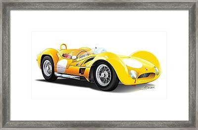 Maserati Tipo Framed Print by Alain Jamar