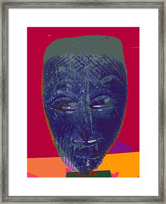Mask 10 Framed Print by Noredin Morgan