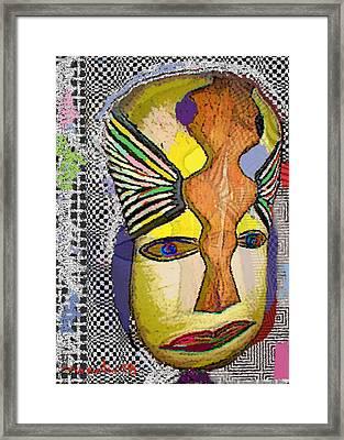 Mask 13 Framed Print by Noredin Morgan