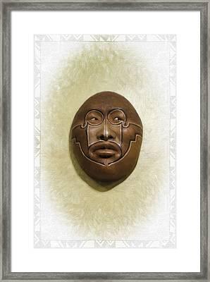 Mask 2 Framed Print by Don Lovett