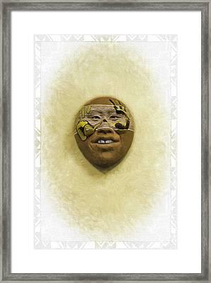 Mask 5 Framed Print by Don Lovett