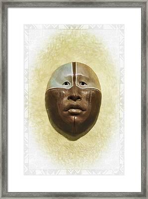 Mask 6 Framed Print by Don Lovett