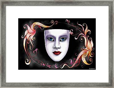 Mask And Vines Framed Print