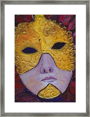 Mask Framed Print by Birgit Schlegel