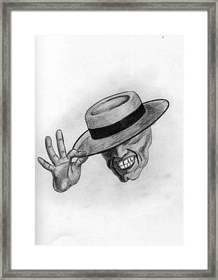 Mask Framed Print by James Bradley
