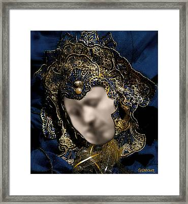 Mask Of Love Framed Print