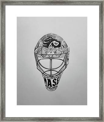 Mask Of Mason  Framed Print by John Chattley