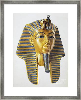 Mask Of The Egyptian Pharaoh Tutankhamen Framed Print