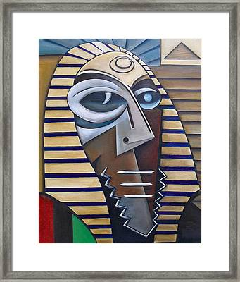 Mask Of The Enigmatic Framed Print by Martel Chapman