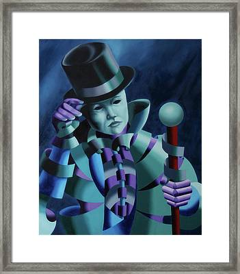 Mask Of The Magician - Abstract Oil Painting Framed Print by Mark Webster