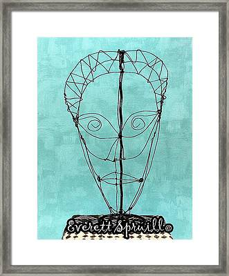 Mask Of Wire Framed Print