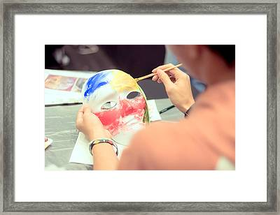 Mask Painting Framed Print by Jijo George