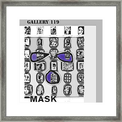 Mask Post Card Framed Print by Noredin Morgan