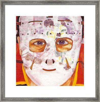 Mask Refection Framed Print by Ken Yackel