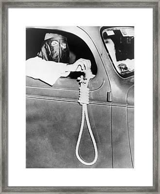 Masked Ku Klux Klan Member, Holds Framed Print by Everett