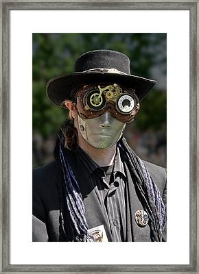 Masked Man - Steampunk Framed Print