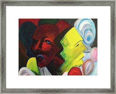 Masked Man Framed Print by Suzanne  Marie Leclair