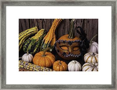 Masked Pumpkin Framed Print