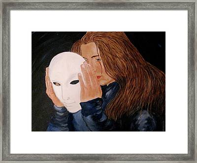Framed Print featuring the painting Masked by Rebecca Wood