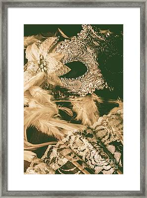 Masking A Playwright Framed Print
