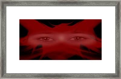 Masking My Eyes Framed Print