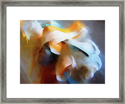Framed Print featuring the mixed media Masking Tape And Paint Composition by Lynda Lehmann
