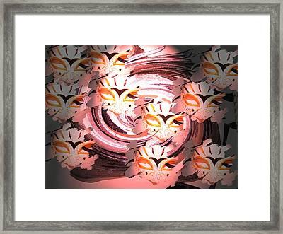 Masks Framed Print by Judy Arline  Puckett