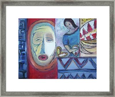 Masks Framed Print