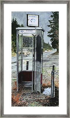 Mason-dixon Phone Booth Framed Print by Perry Woodfin