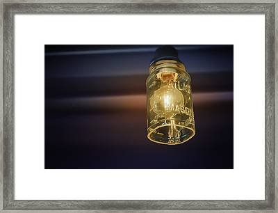 Mason Jar Light Framed Print