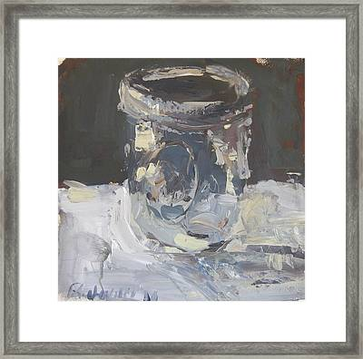 Framed Print featuring the painting Mason Jar  by Robert Joyner