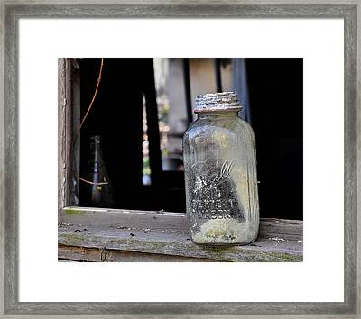 Mason Jar Framed Print by Todd Hostetter