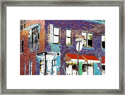 Mason Street And Cherry Framed Print by Jeff Gibford