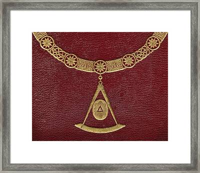 Masonic Symbols From Cover Of The Framed Print