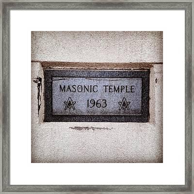 Masonic Temple Framed Print