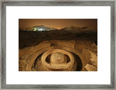 Masonry Foundations Beneath A Bathhouse Framed Print by Michael Melford