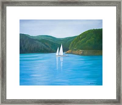 Mason's Sailboat Framed Print by Stephen Degan