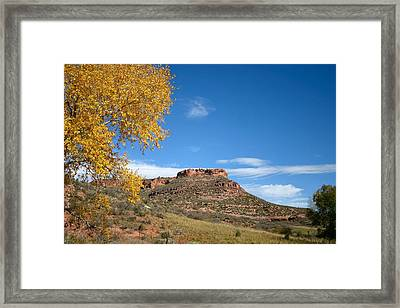 Masonville Bluffs Framed Print