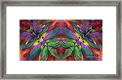 Masqparade Tapestry 7b Framed Print by Ricardo Chavez-Mendez