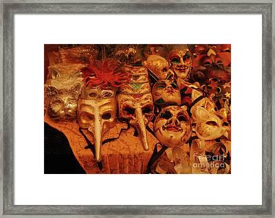 Masque Maker Framed Print by Georgia Sheron
