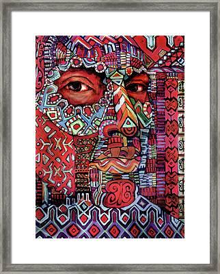 Masque Number 4 Framed Print