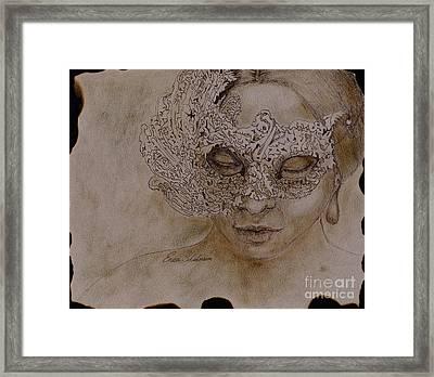 Masquerade Framed Print by Enzie Shahmiri