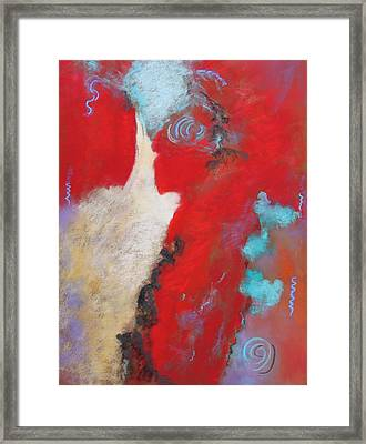 Framed Print featuring the painting Masquerade  by M Diane Bonaparte